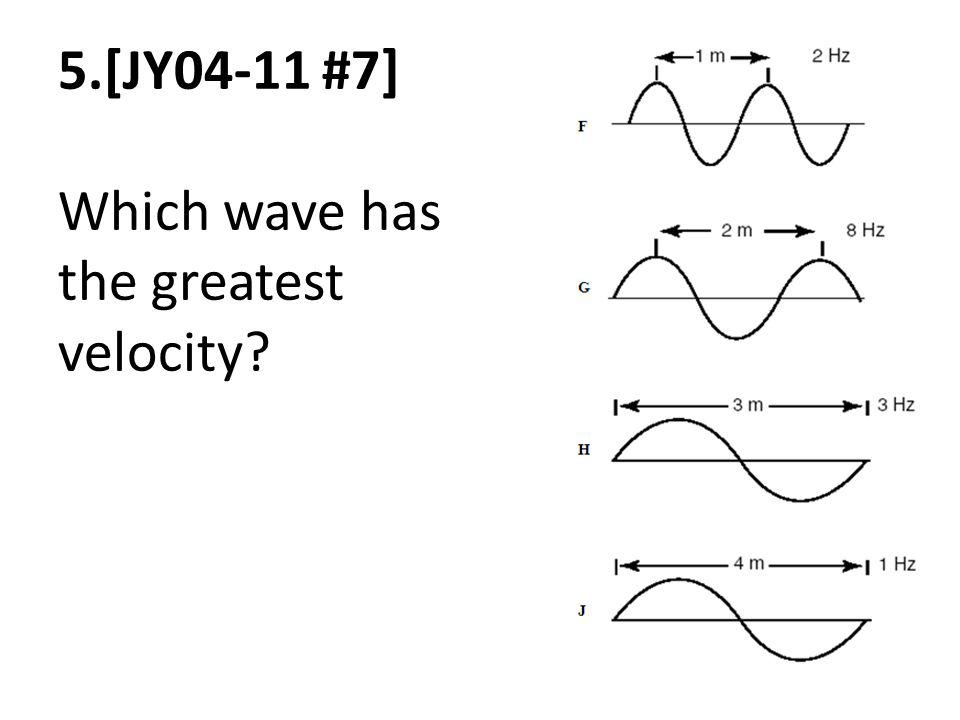 5.[JY04-11 #7] Which wave has the greatest velocity